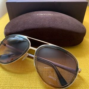 TOM FORD NEW Men's Aviator Sunglasses -Never Used!